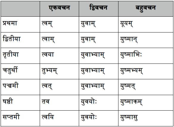 Sanskrit grammar – pronouns – युष्मद् [शब्दरूप] | Thoughts